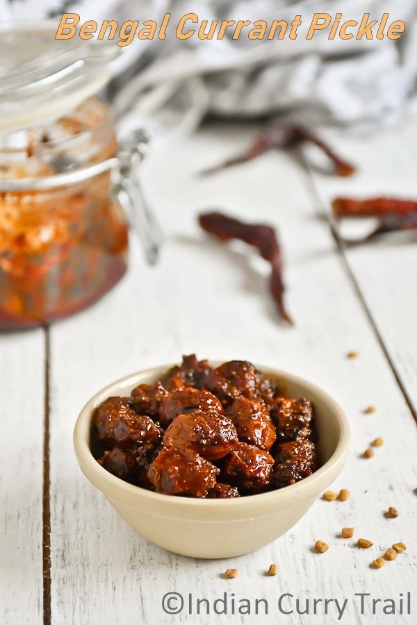 Bengal-currant-pickle-recipe