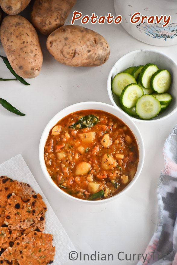 Potato Gravy for Chapathi